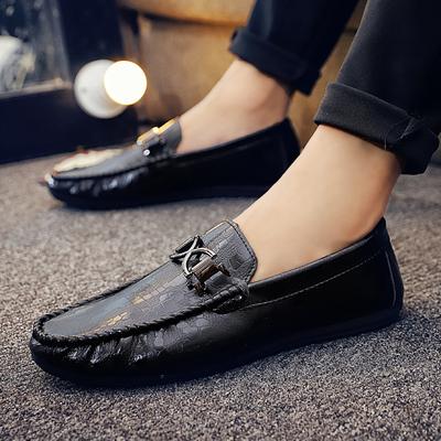 豆豆鞋男2019新款春秋季韩版百搭社会鞋子精神小伙懒人一脚蹬皮鞋