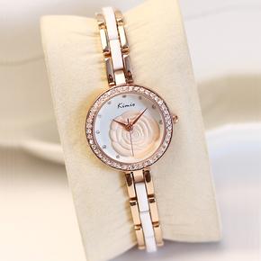 香港金米歐Kimio正品立體玫瑰花手鏈手表包郵樹脂表帶表配飾