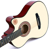 卡斯摩38寸吉他民谣吉他木吉他初学者入门练习吉它学生男女乐器