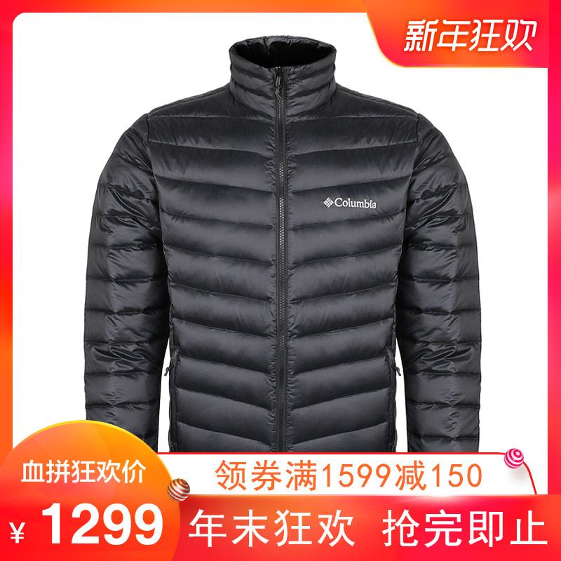 哥伦比亚2018秋冬新品户外男装防水热能700蓬白鹅绒羽绒服PM5565