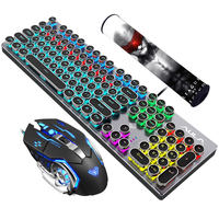 Tarantula mechanical keyboard and mouse set green axis black axis tea axis red axis game eat chicken desktop laptop wired mouse and keyboard esports three-piece Internet cafes peripherals