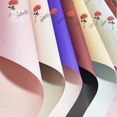 双色欧雅纸印花纸花店20张 双面丽染纸 鲜花牛皮包装 母亲节新款