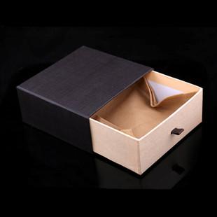 高档抽屉皮带包装盒现货 手拉式腰带礼品盒 皮具钱包纸盒无纺布袋