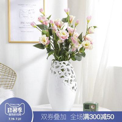 现代简约北欧家居创意花瓶摆件客厅插花桌面欧式餐桌鲜花陶瓷摆件