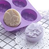 香皂矽胶模 DIY手工皂硅胶模具新款 四连蝴蝶花梦蝶 爱皂坊