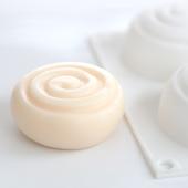 DIY手工皂矽膠模 六連圓形甜甜旋渦硅膠模具 新款 愛皂坊