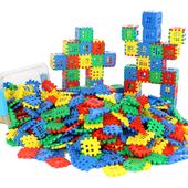 9岁宝宝男孩儿童塑料益智拼插玩具 大方块房子积木正方形拼装图片