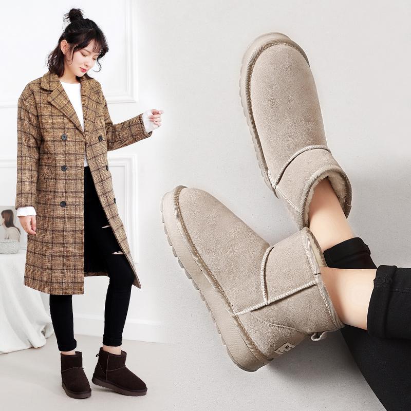 新款真皮雪地靴