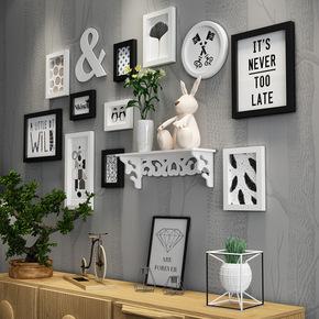 客厅装饰画简约现代卧室服装店铺创意挂画小清新餐厅墙面壁画组合