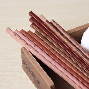 天然实木筷红木制筷无漆无蜡鸡翅木筷子高档筷环保绿色筷子餐具