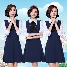 工作服连衣裙两件套 女教师衬衫 幼师服装 春秋季幼儿园老师园服套装