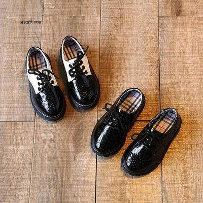2018春季新款男童皮鞋童鞋英伦休闲单鞋学生演出鞋黑色儿童皮鞋潮