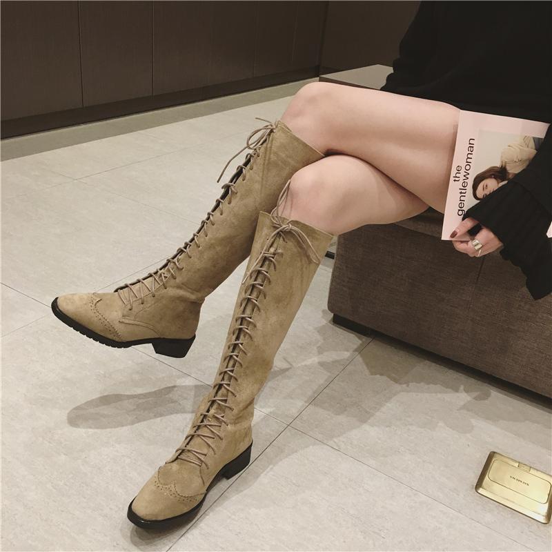 英伦高筒靴