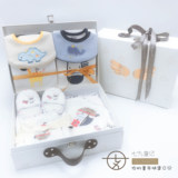 Seven-nine high-end newborn gift box four seasons package baby gift box bib baby 100-day gift