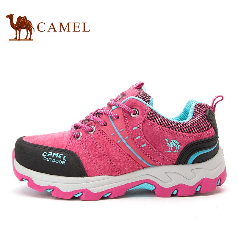 骆驼女鞋秋冬户外防水鞋休闲防滑女款跑步运动鞋登山鞋徒步鞋