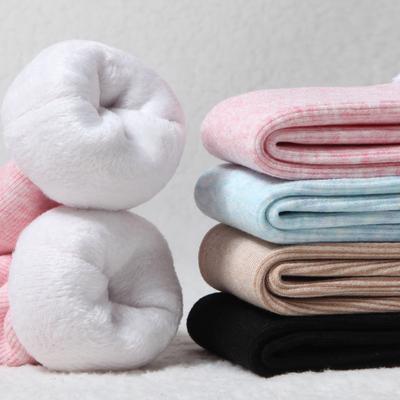 冬天袜子女士雪地袜加厚加绒中筒长筒地板袜秋冬季毛圈保暖厚袜子