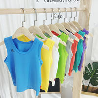 2019 summer children's clothing boy vest wear baby thin section sleeveless sling children breathable mesh quick-drying vest