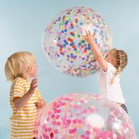 Balloon color discs confetti floating air ball round shredded paper filling birthday party Bobo ball paper