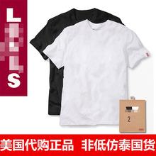 打底衫 小李家男士 短袖 黑白色纸盒2件装 国内现货 T恤 美国代购 正品图片