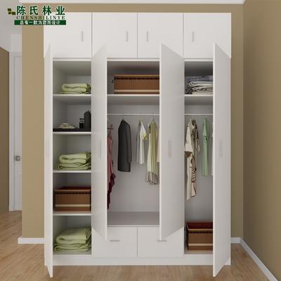 简易衣柜实木质板式组合整体衣柜2门3门4门大衣柜儿童衣橱
