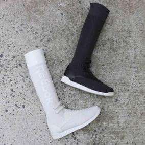 美国代购正品Reebok锐步女鞋Freestyle Hi UltraKnit长筒袜休闲鞋