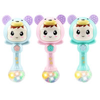Baby toys 3 newborn children 6 teeth rubber 8 hand bell 4 puzzle early education 7 boys and girls 12 months baby 0-1 years old