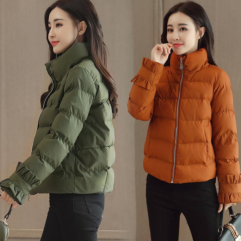 韩版短款棉衣女款