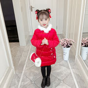 Girls Tang suit winter 2018 new children's New Year's clothing padded cotton coat Chinese style New Year's clothing 1 baby female winter clothing 2