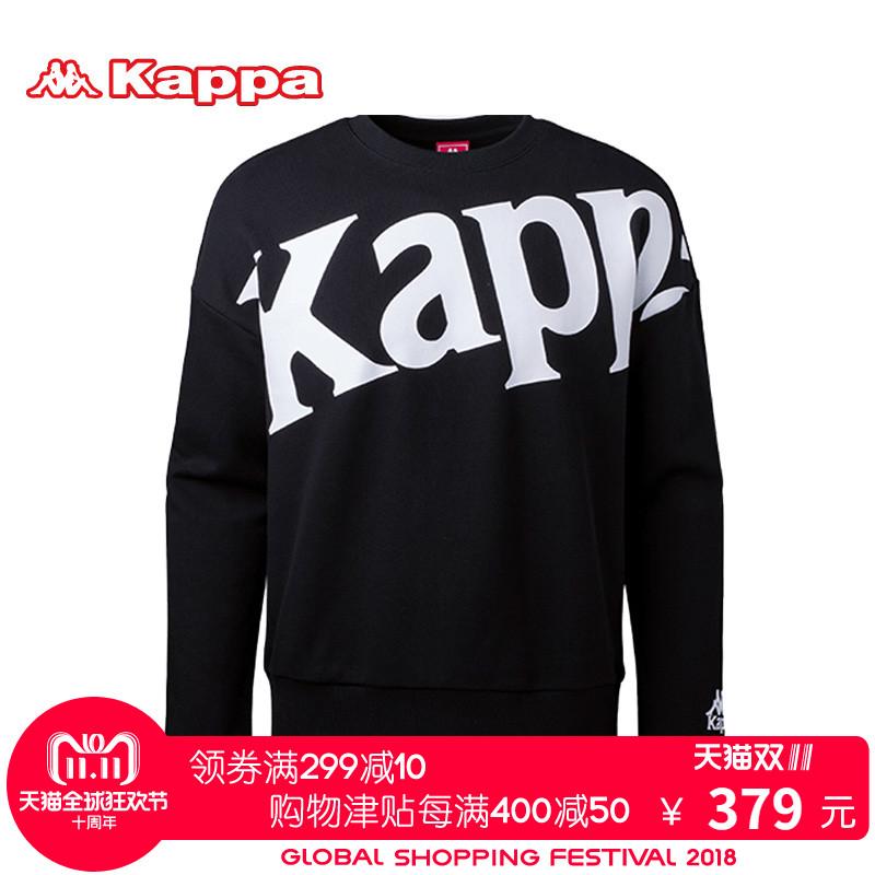 KAPPA/卡帕专柜男子女子运动服 2018秋款情侣针织卫衣|K08X2WT66D