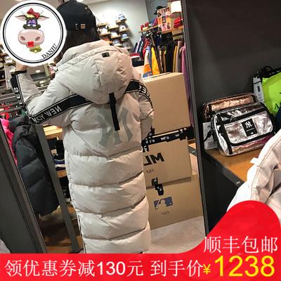 【韩国八月新品】MLB正品洋基队男女款大标长款羽绒服外套保暖