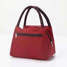 加厚防水牛津帆布便当包手提小花布包手拎小包饭盒袋女休闲包图片