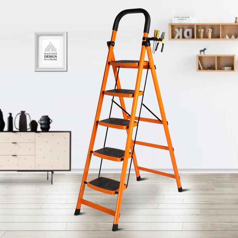百佳宜室内人字梯子家用折叠六步梯爬梯