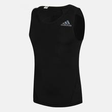 Adidas阿迪达斯夏季运动紧身衣健身训练无袖T恤 男子速干背心