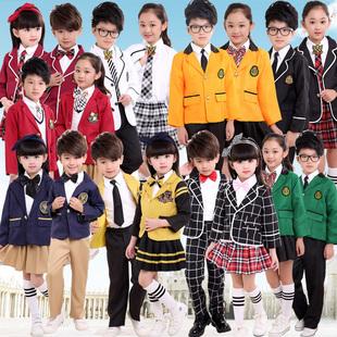 新款英伦学院风中小学生校服班服幼儿园园服韩版男女儿童套装春秋