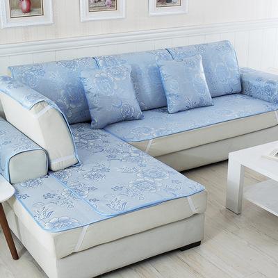 夏凉蓝色沙发垫口碑如何