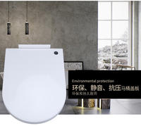 Universal U-shaped toilet cover toilet cover thickening descending cover large U small U square U version