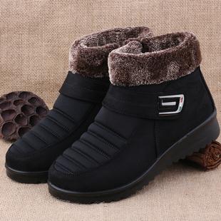 老北京布鞋冬季女鞋老人保暖棉鞋中老年妈妈鞋防滑加厚保暖奶奶鞋