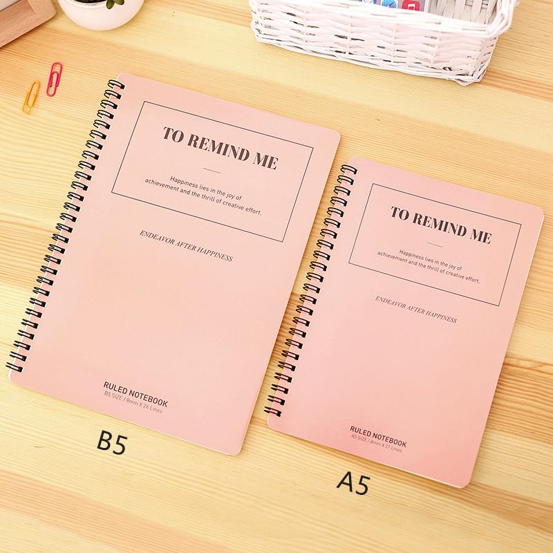 螺旋笔记本文具A5线圈本B5软面抄60页记事本商务会议办公本子得力