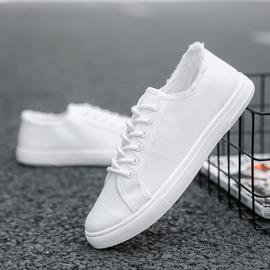 夏季男士帆布鞋韩版潮流百搭板鞋休闲小白潮鞋白色布鞋透气男鞋子图片