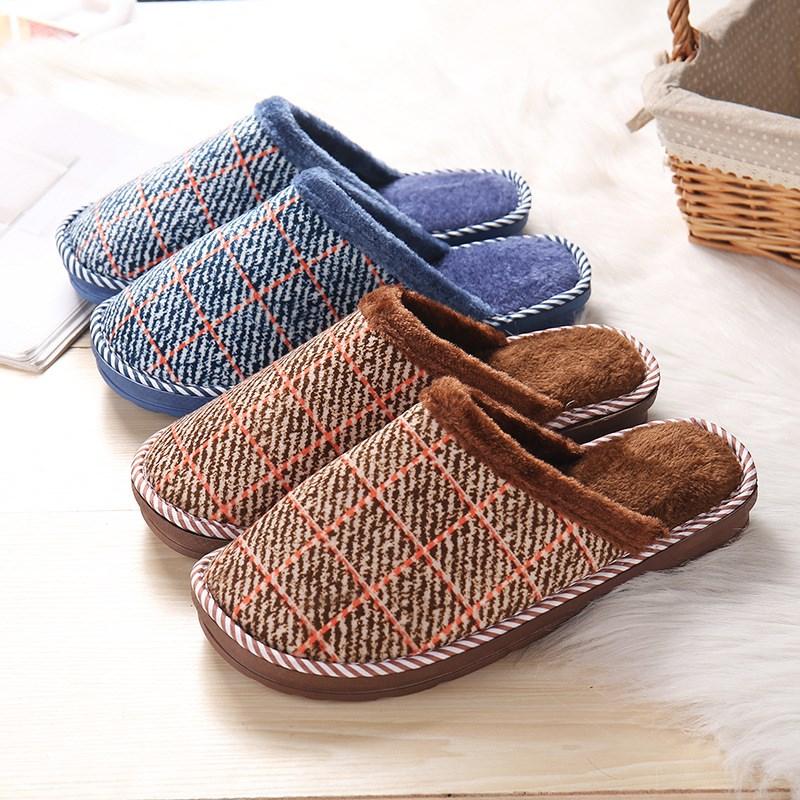 棉拖鞋毛绒厚底防滑冬天男士保暖室内加大码家用居家棉鞋情侣秋冬