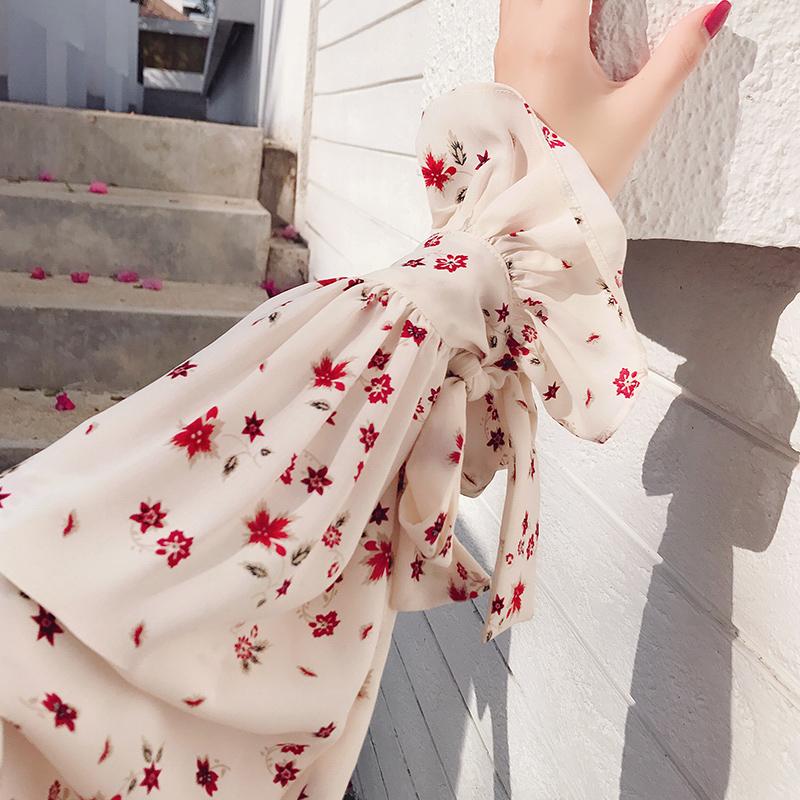 秋装碎花衬衫