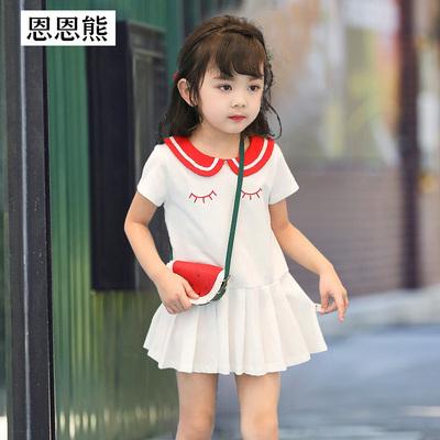 女童连衣裙夏季儿童潮洋气1岁3小童公主裙2018新款夏装女宝宝裙子