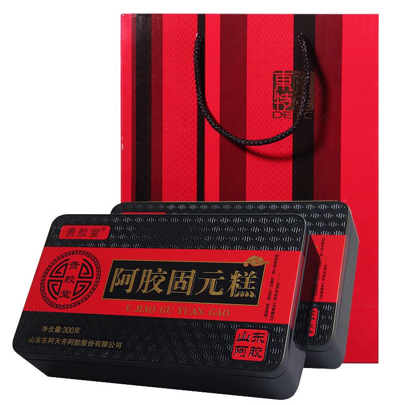买1盒发2盒精品铁盒山东东阿厂家阿胶块正品阿胶粉熬阿胶糕即食
