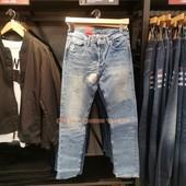 正品levis专柜李维斯501CT男士小脚补丁牛仔裤28894-0096吊牌1099