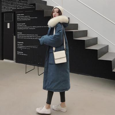 反季棉服女中长款2018冬新款ins面包服棉袄东大门过膝长款棉衣潮