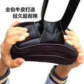 真牛皮手机包单层横款 穿皮带腰包OPPO华为挂腰手机套vivo通用 男士