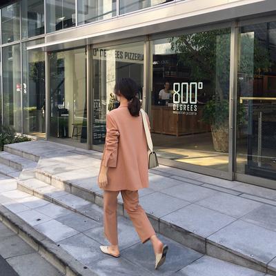MALI/2018秋装新款韩版气质休闲小西服长袖修身显瘦西装外套女