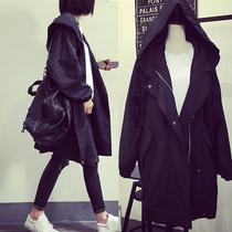 胖mm2018秋装新款200斤加肥加大码女装中长款风衣胖妹妹宽松外套