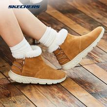 Skechers斯凯奇女士轻质反毛皮短靴一脚套女短筒雪地靴14404