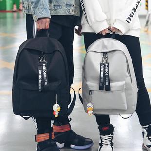 帆布书包女中学生韩版大背包港风日系双肩包学院风bf电脑包男情侣